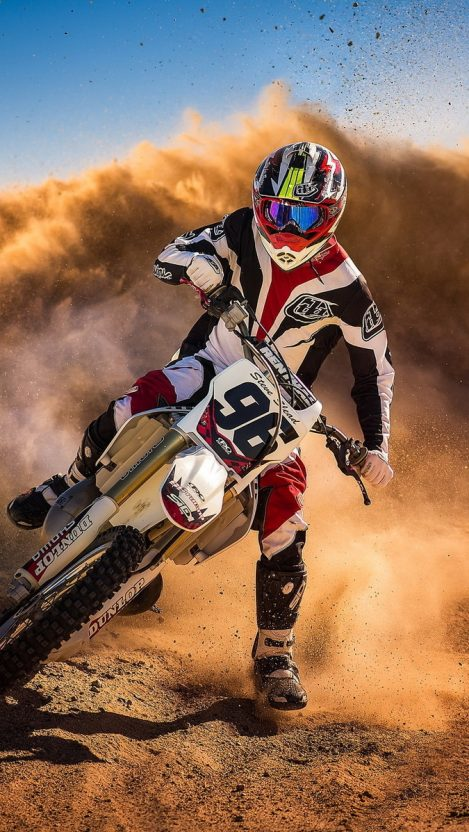 Tattoo Girl Hd Wallpaper Download Motocross Biker Mud Racing Iphone Wallpaper Iphone