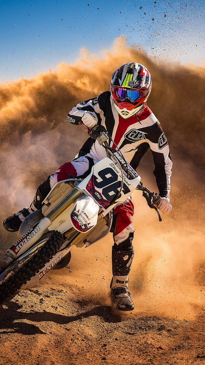 Sport Bike Girl Wallpapers Motocross Biker Mud Racing Iphone Wallpaper Iphone