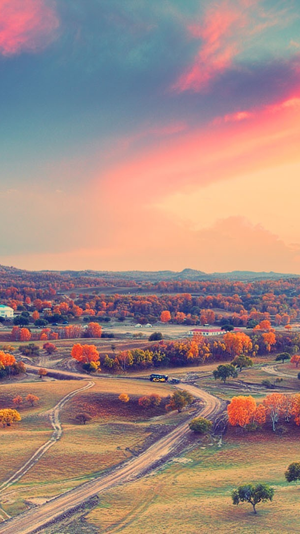 Evening Wallpaper With Quotes Nature Morning Scenary Beautiful Village Iphone Wallpaper