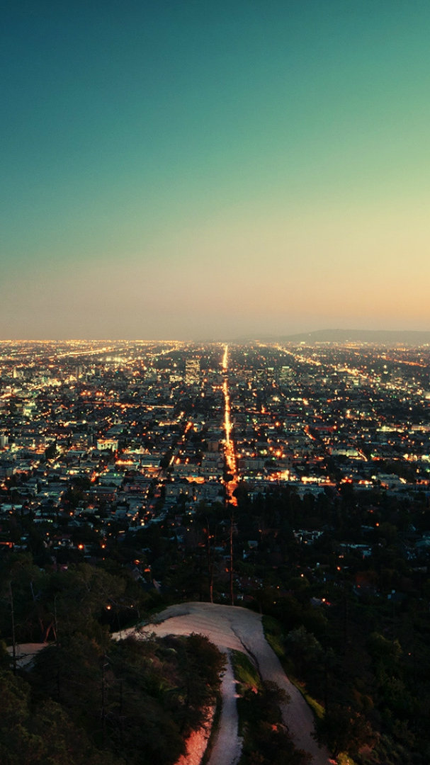 Cute Hipster Wallpaper Los Angeles California City Night Iphone Wallpaper