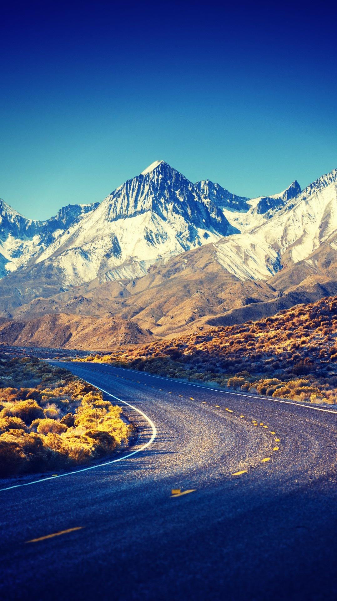 Cute Bow Iphone Wallpaper Sierra Nevada Hdr Mountains Road Iphone Wallpaper Iphone