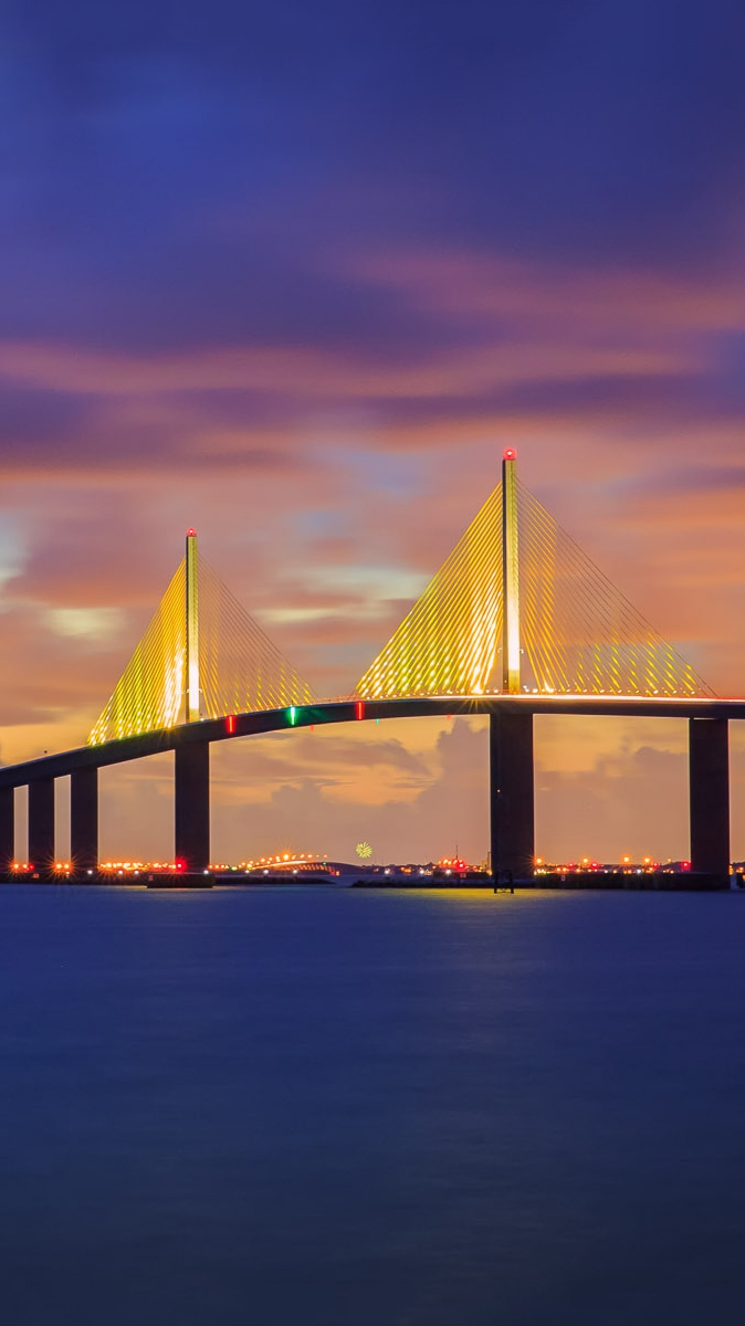 Wallpaper Cute Iphone Sunshine Skyway Bridge Florida Iphone Wallpaper Iphone