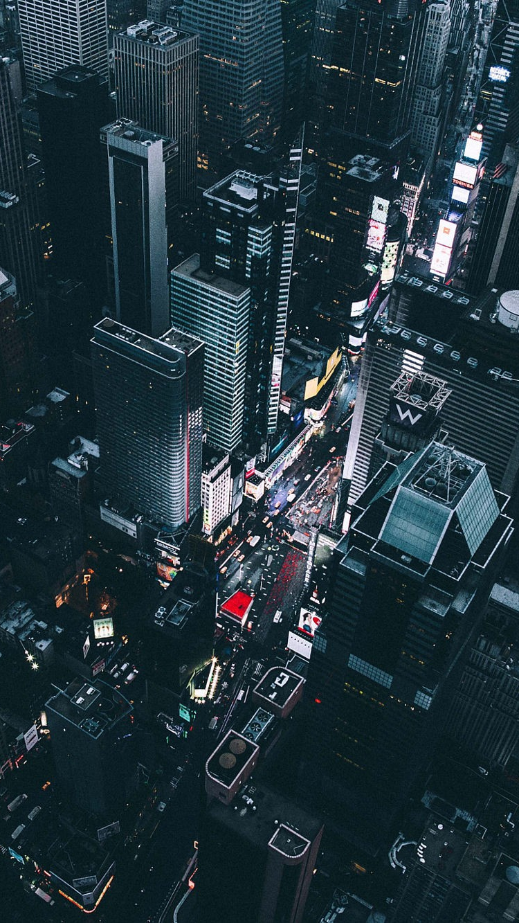 Cool Cars Wallpaper With Girls Time Square New York View From Chopper Iphone Wallpaper