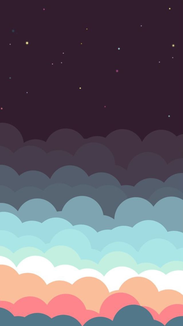 Background Pastel Biru Animated-colourful-clouds-sky-stars-iphone-wallpaper