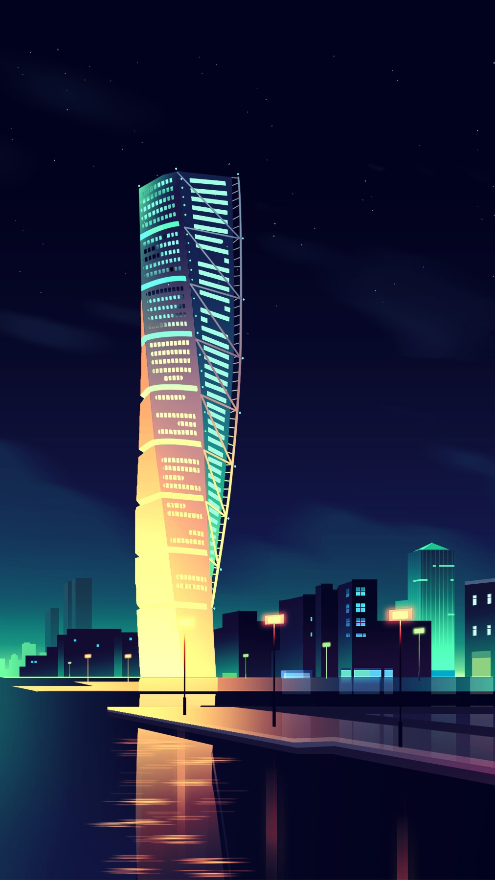 Cute Alone Girls Wallpapers Animated Night City Wallpaper Iphone Wallpaper Iphone