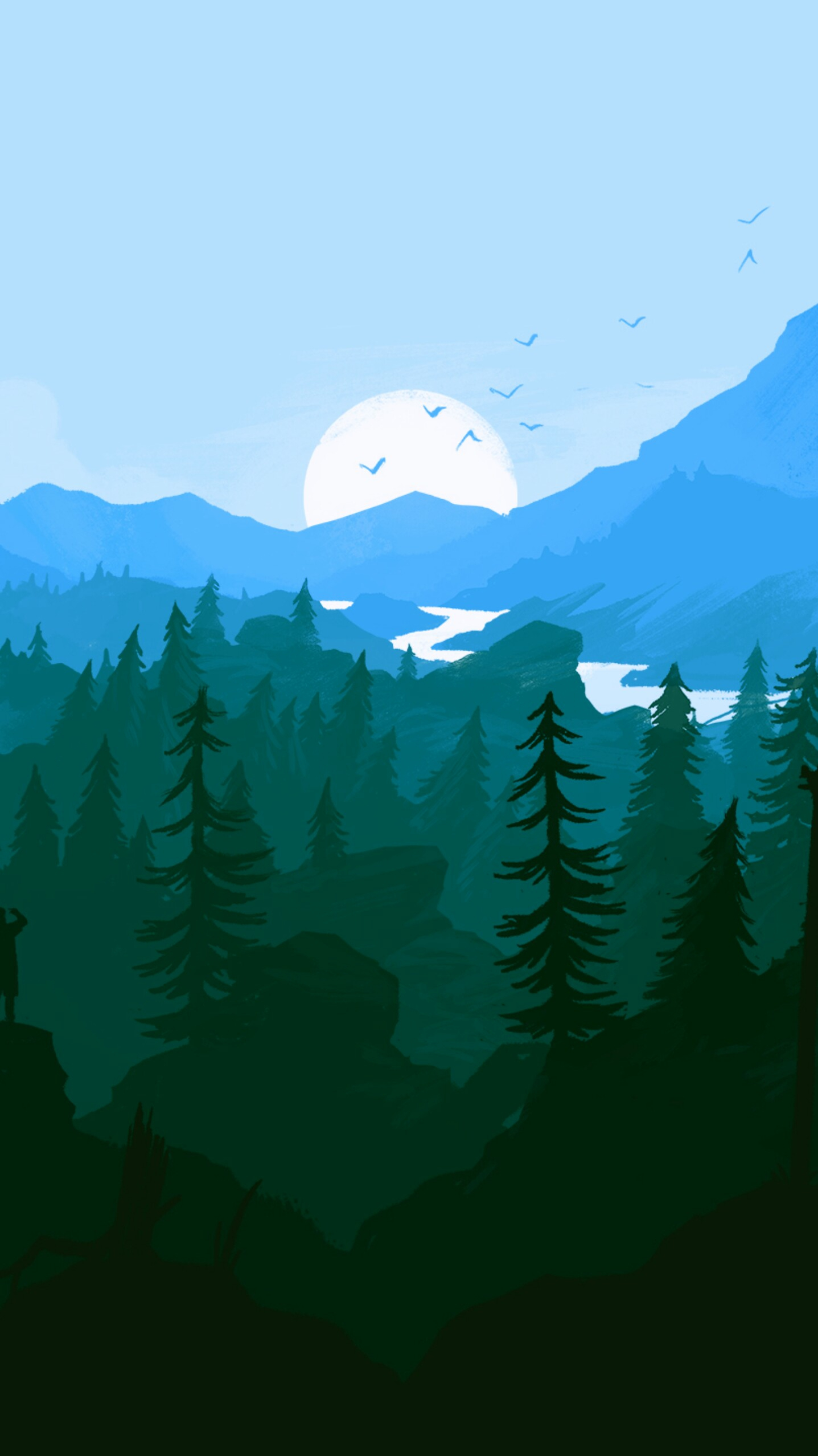 The Gravity Falls Wallpapers Artistic Sunrise Scenery Mountains Iphone Wallpaper
