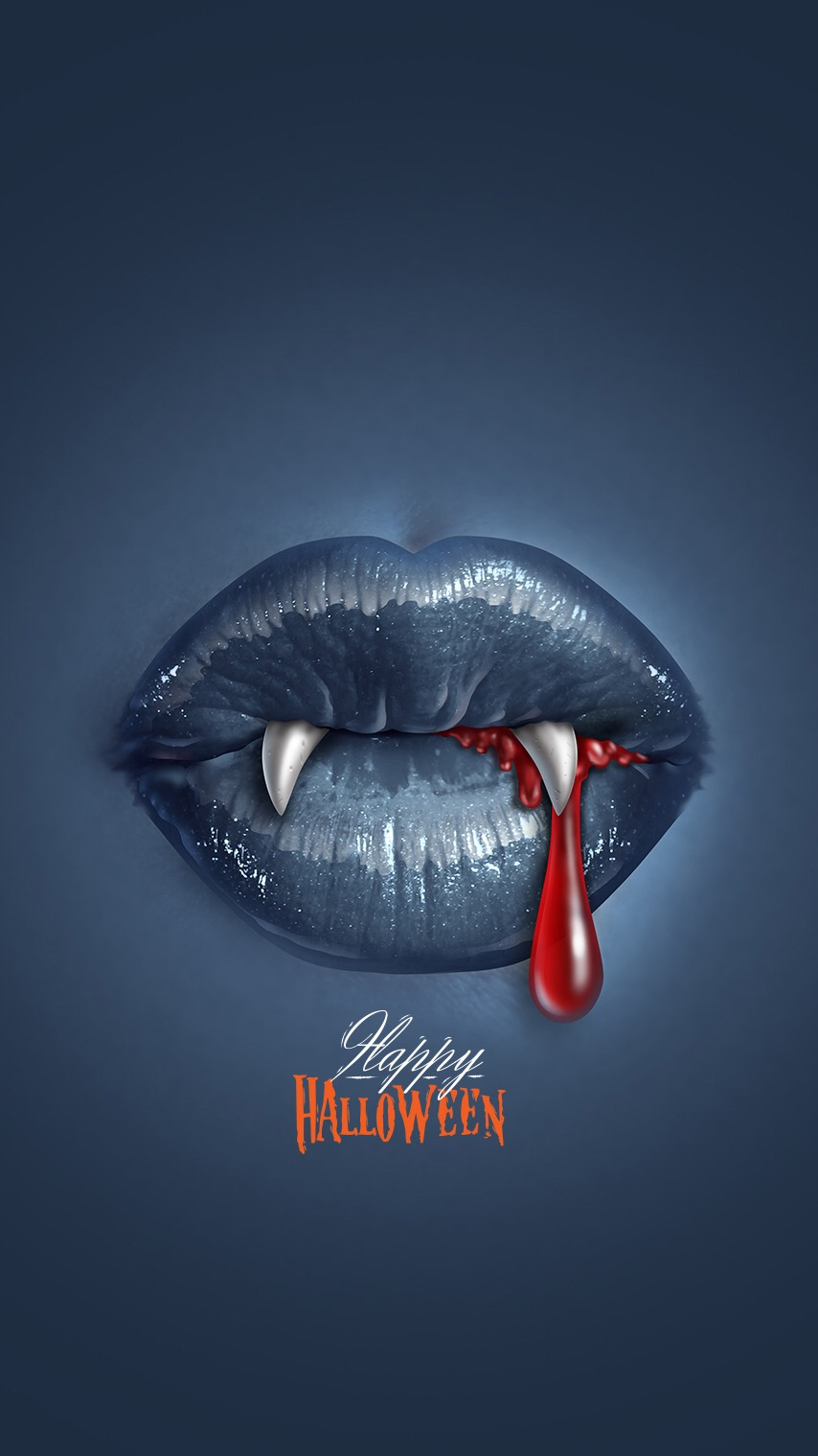 Desktop Wallpaper Quotes Love Happy Holloween Scary Blood Vampire Lips Iphone Wallpaper