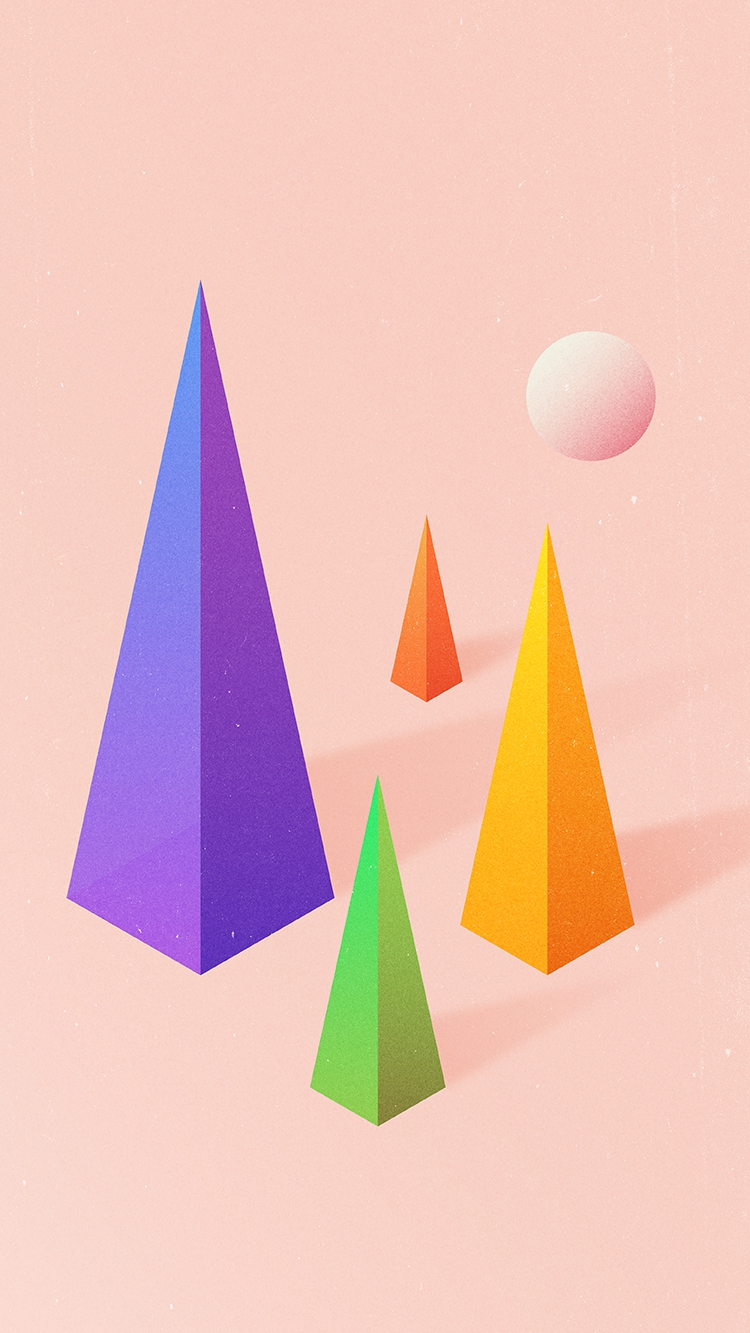 Quotes For Iphone Wallpaper Cute Triangle Blocks Digital Art Iphone Wallpaper Iphone