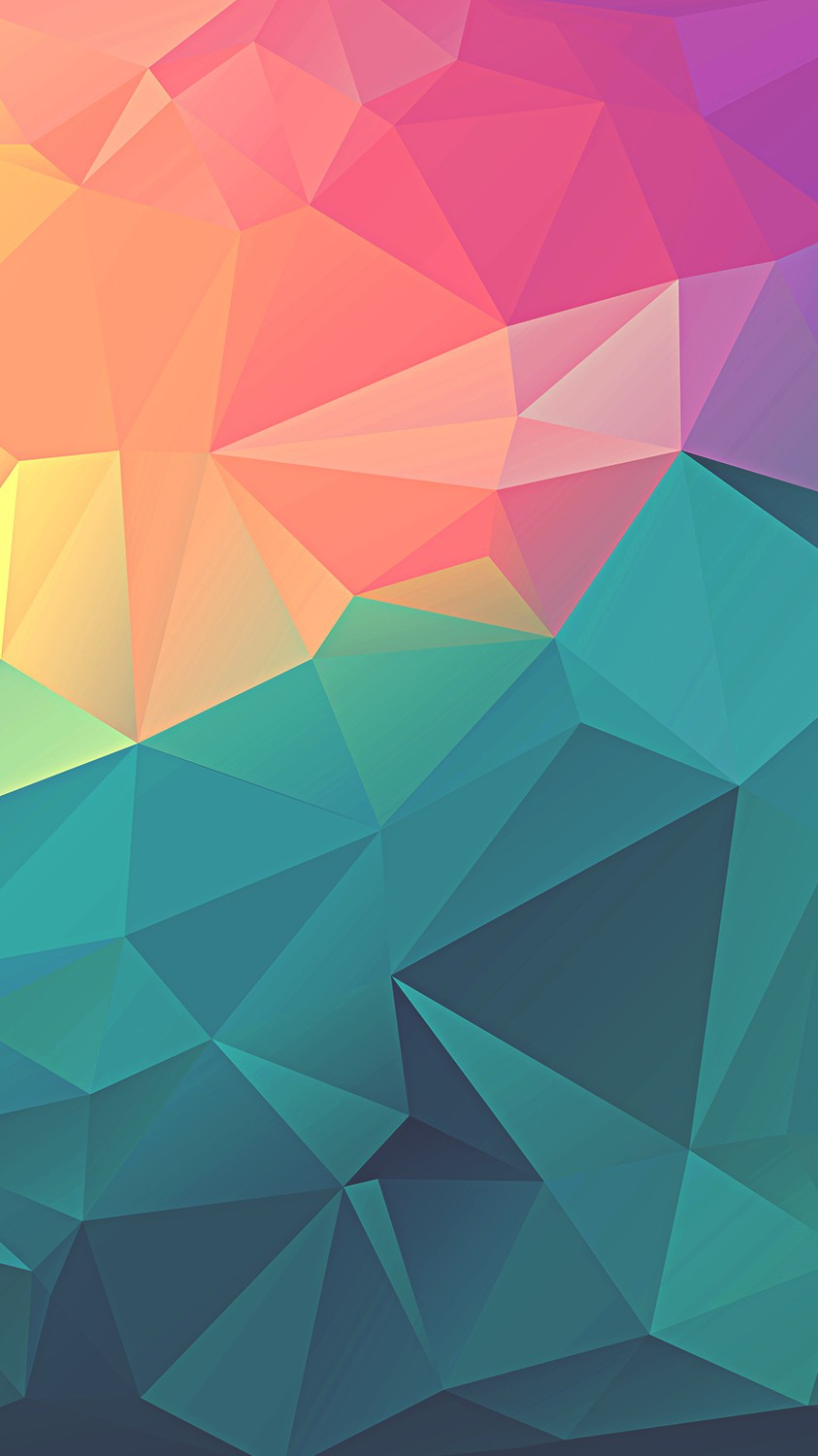 Cute Pineapple Iphone Wallpaper Colorful Polygon Geometric Art Iphone Wallpaper Iphone