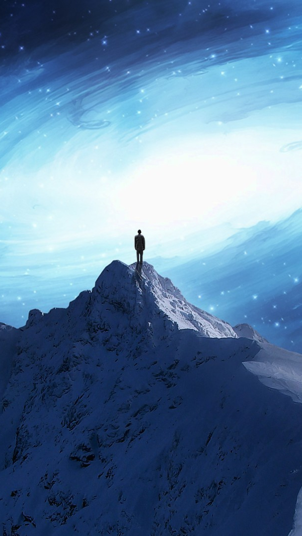 Artistic Quotes Wallpaper Fantsy Art Man On Mountain Iphone Wallpaper Iphone