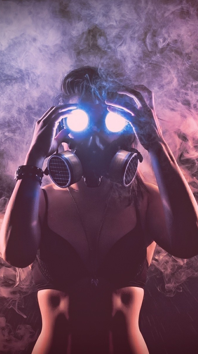 Cute Girl Wallpapers For Your Phone Girl With Smoke Mask Wallpaper Iphone Wallpaper Iphone