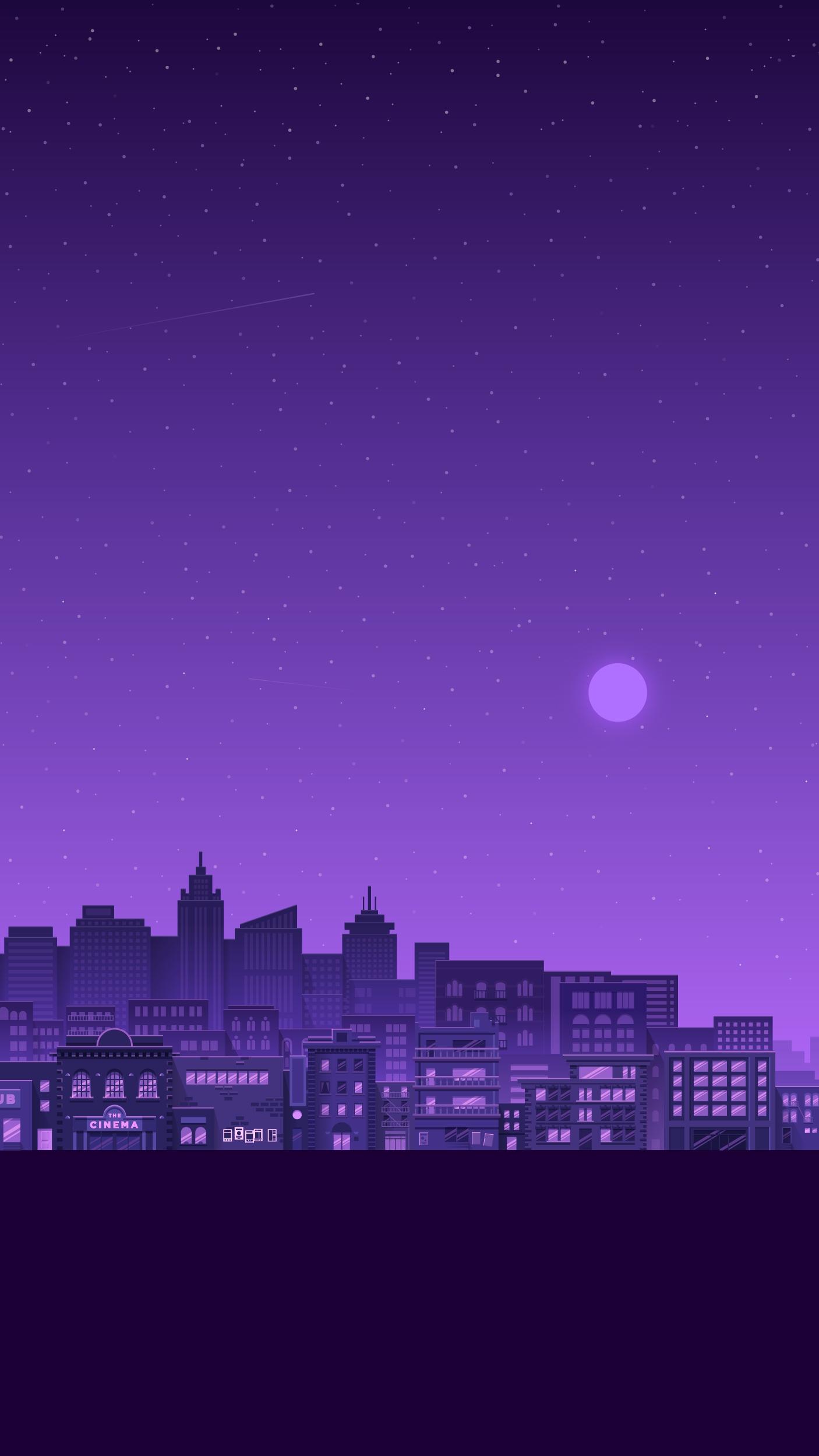 Cute Christmas Owl Desktop Wallpaper Purple City Iphone Wallpaper Iphone Wallpapers