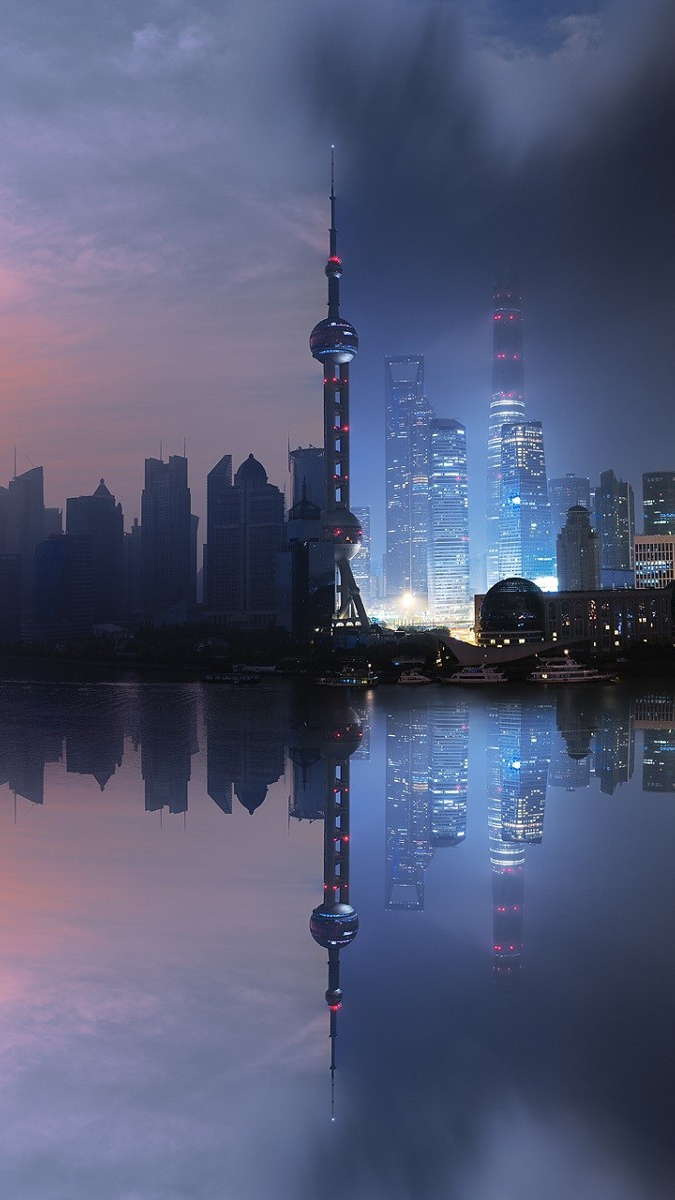 Iphone Wallpaper Hd Cute Shanghai City Artistic Sunrise And Sunset Iphone Wallpaper