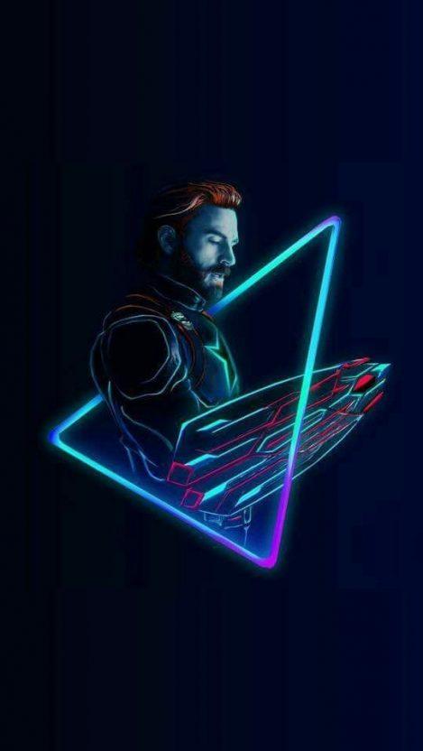 Pantera Animal Wallpaper Captain America Neon Avengers Infinity War Iphone