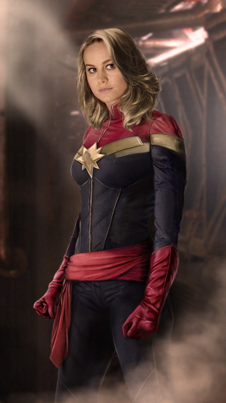 Hd Quotes Wallpapers For Iphone Captain Marvel Brie Larson Carol Denvers Iphone Wallpaper