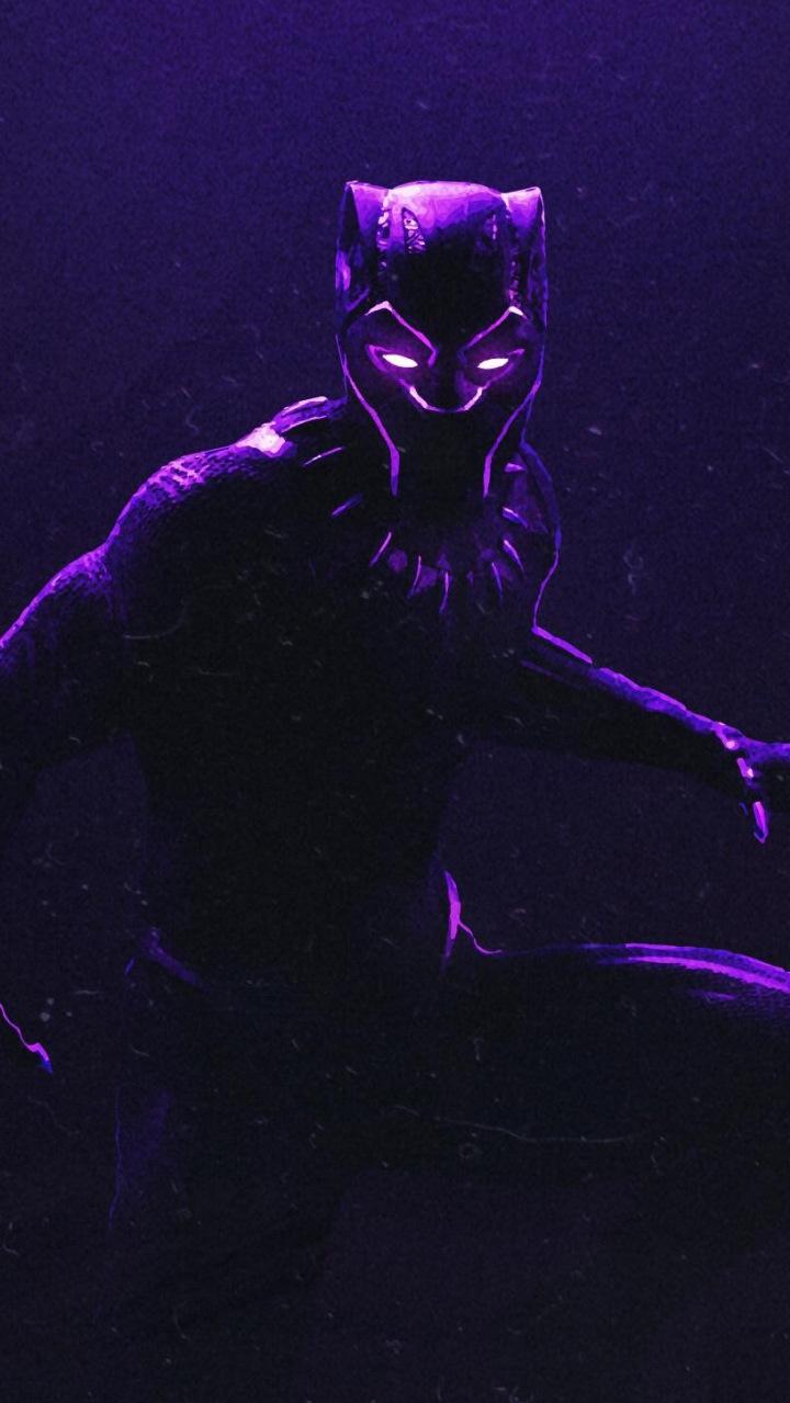 Marvel Avengers 3d Wallpaper Black Panther Dark Glowing Suit Iphone Wallpaper Iphone