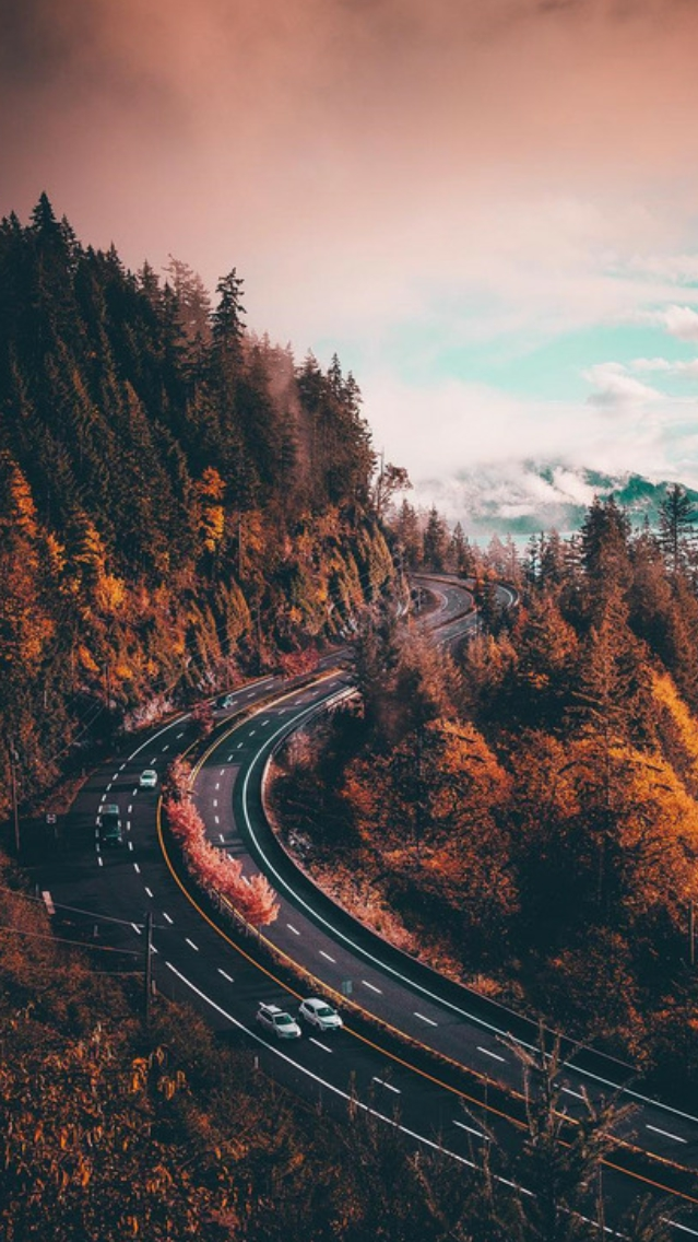 Pinterest Wallpapers Fall Nature Highway Road Iphone Wallpaper Iphone Wallpapers