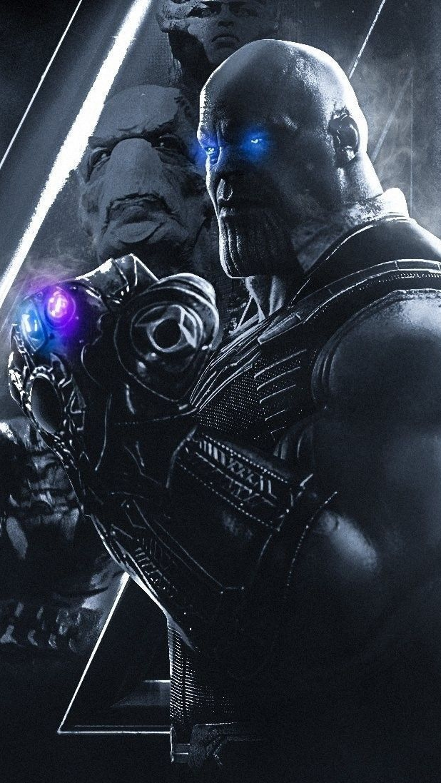 Black Spiderman Iphone Wallpaper Thanos With Infinity Stones Avengers Iphone Wallpaper