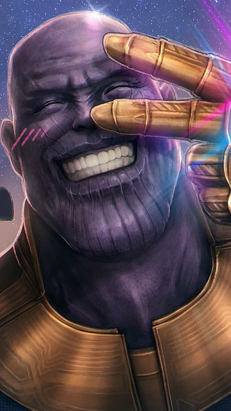 Iphone 7 Hd Wallpapers 1080p Thanos Face Happy Smiling Peace Iphone Wallpaper