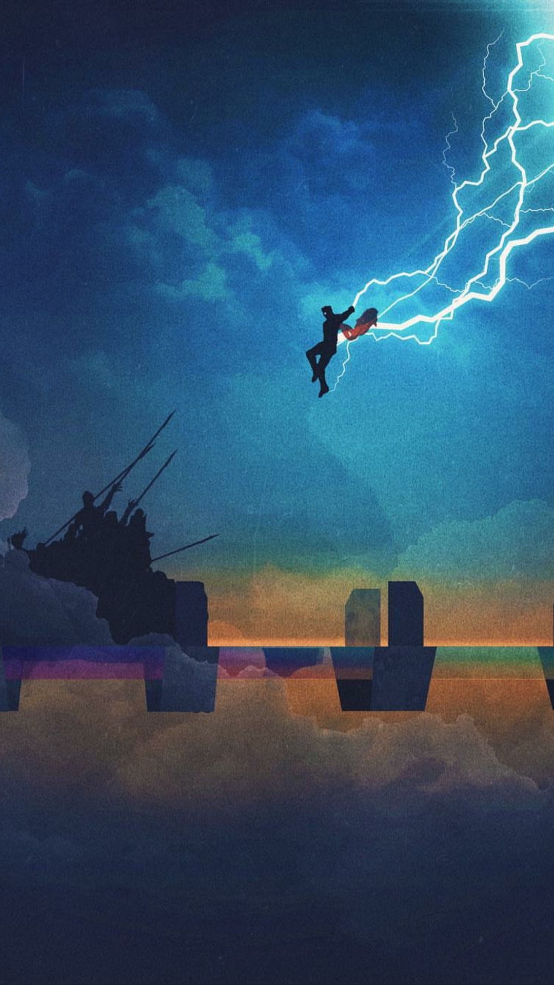 Iphone 6 Wallpaper Love Quotes Thor Stormbreaker Attack Iphone Wallpaper