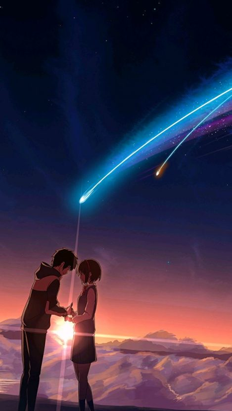 Cute Couple Phone Wallpaper Anime City In Night Iphone Wallpaper Iphone Wallpapers