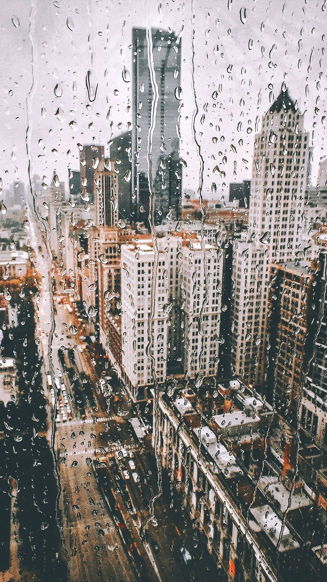 Cute Halloween Phone Wallpaper New York City Rain From Glass Iphone Wallpaper Iphone