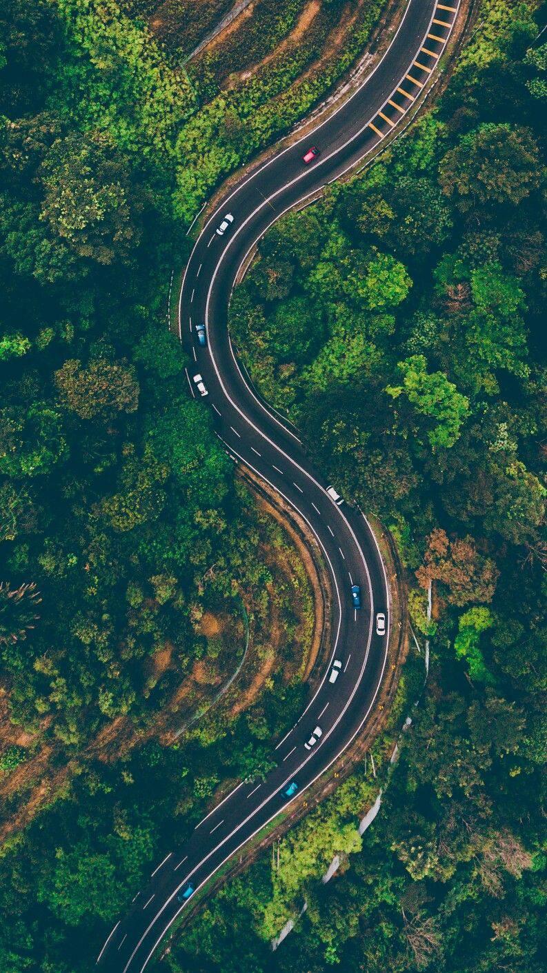 Cute Pic Girl Wallpaper Nature Road Drone Shot Iphone Wallpaper Iphone Wallpapers