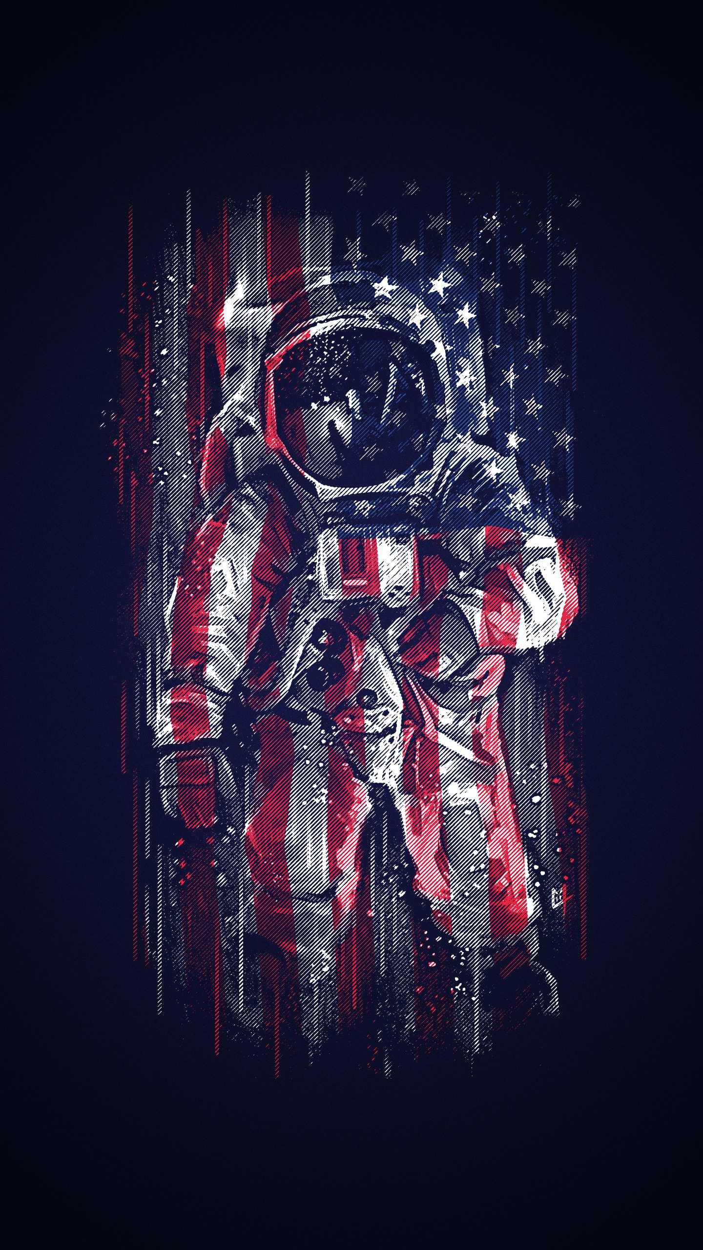 Wallpaper Iphone Hd Keren American Astronaut Flag Iphone Wallpaper Iphone Wallpapers