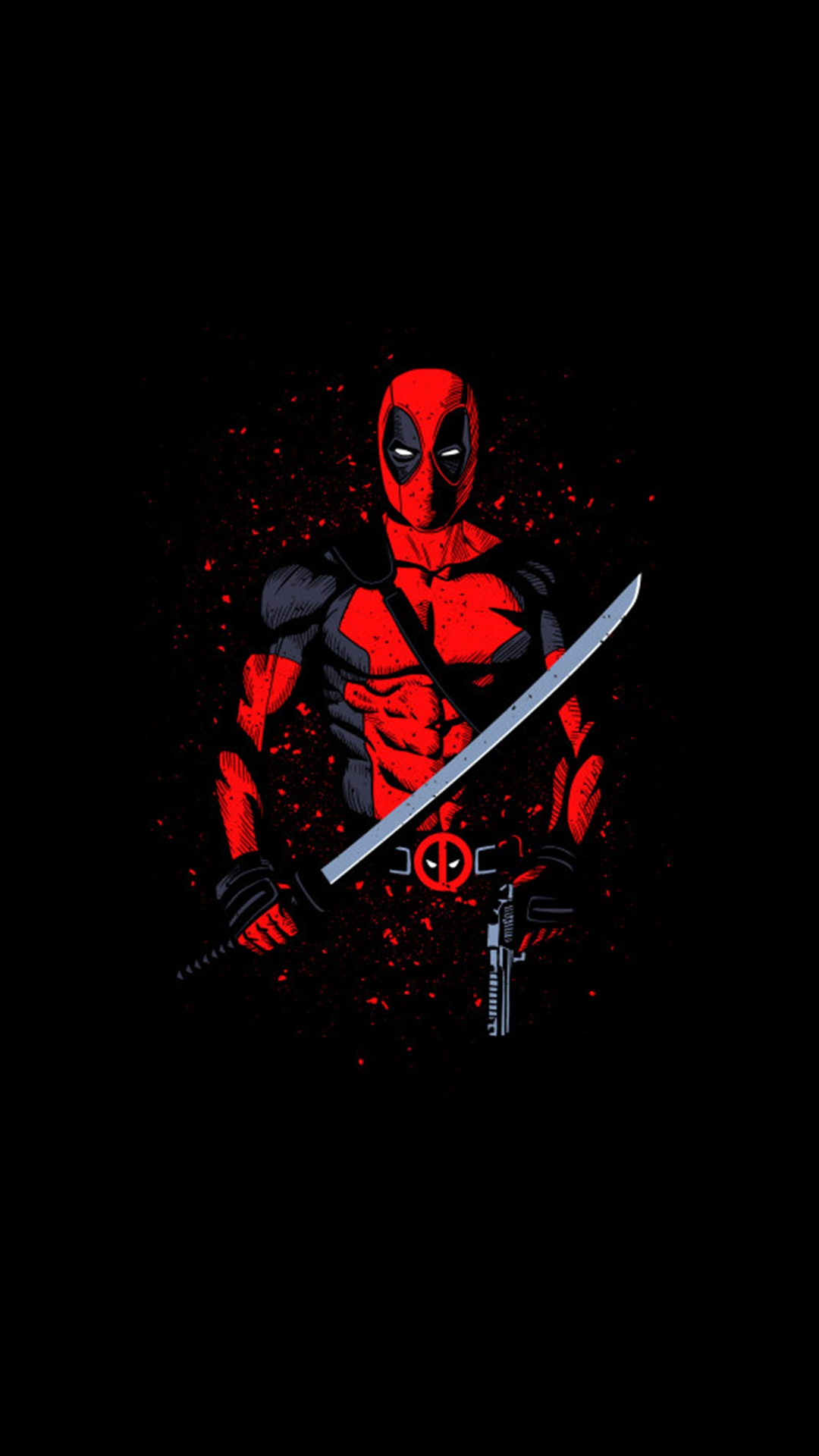 Cool Girl Wallpapers For Mobile Phones Deadpool With Sword Iphone Wallpaper Iphone Wallpapers