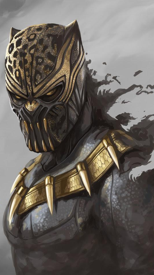 Golden Wallpaper 3d Black Panther Erik Killmonger Iphone Wallpaper Iphone