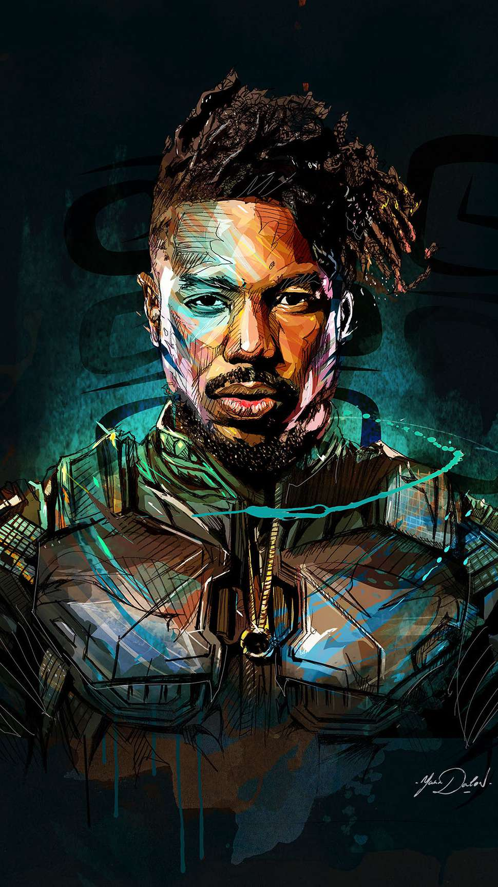 Joker Hd Wallpapers With Quotes Killmonger Art Black Panther Iphone Wallpaper Iphone