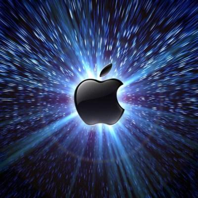 Light Behind Apple Free iPad HD Wallpaper Glowing Apple logo