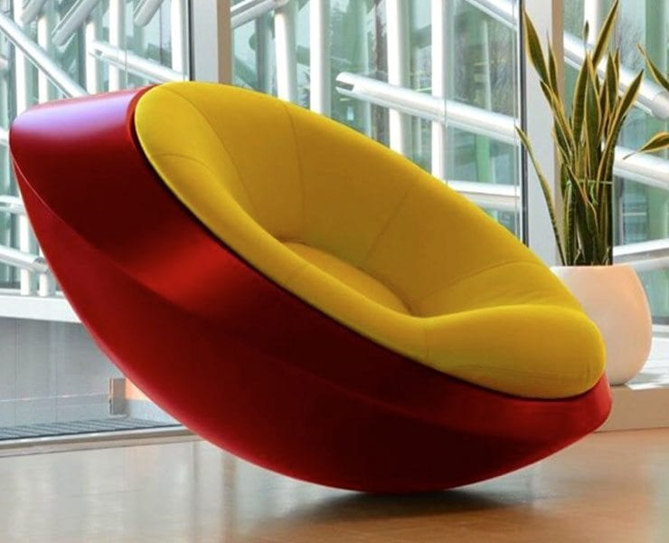 Ufo Sessel The Ufo: Unidentified Furniture Object Rocking Chair - Ippinka