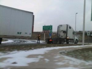 Semi trailer unhooked - epic trucker fail