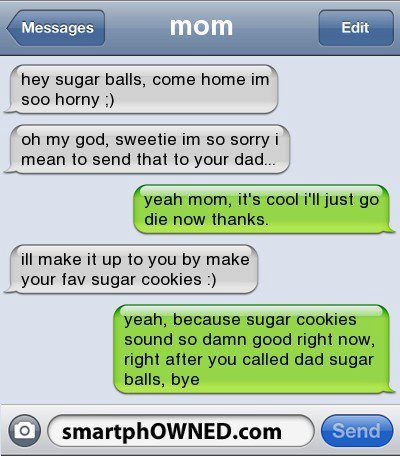 Mom dirty text dad