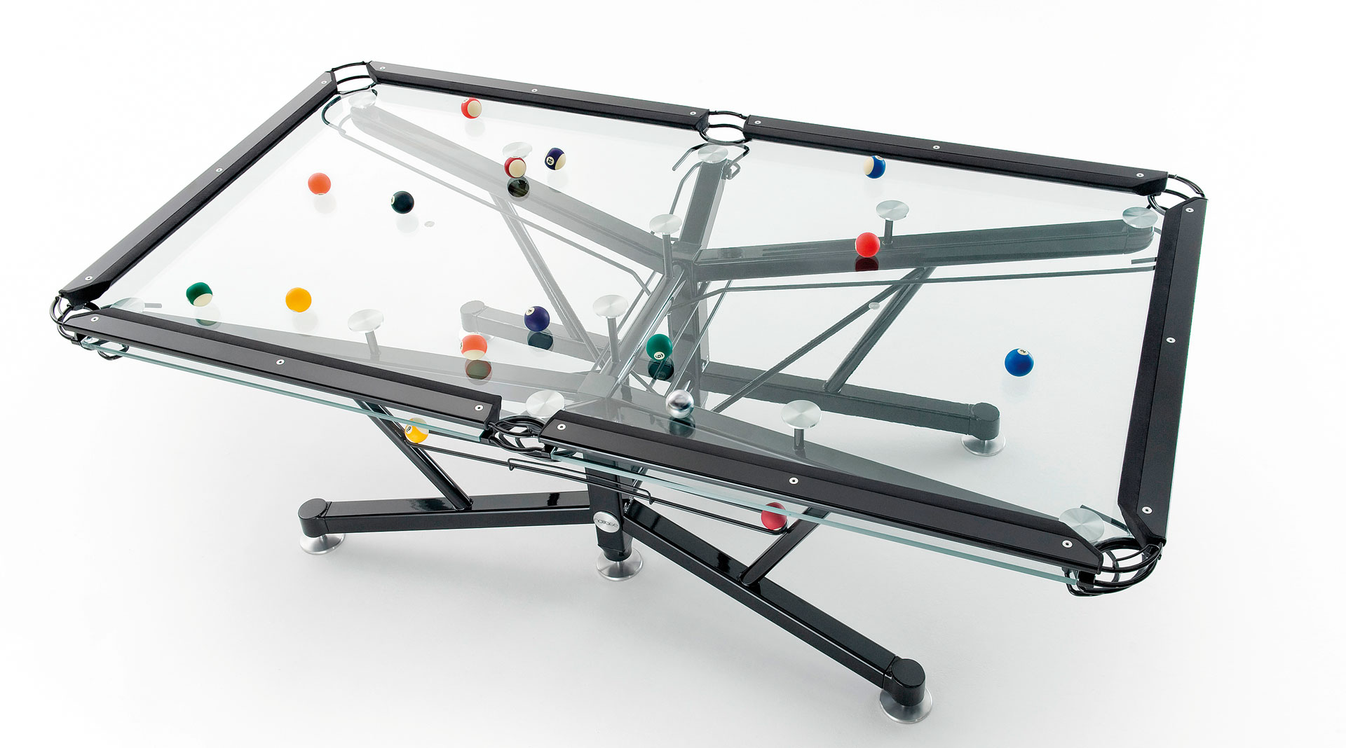 Medidas De Una Mesa De Billar Nottage Design G1 Glass Pool Table International