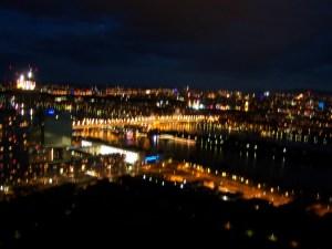 view from donauturm (danube tower), vienna, austria