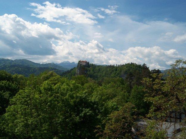 hotel krim balcony view castle, bled slovenia