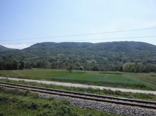 bus scenery - Sarajevo to Nis