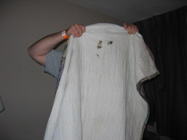 ghost blanket travelodge, Downtown Orlando, Florida