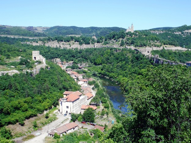 tsarevets fortress, veliko turnovo bulgaria,  view from balcony