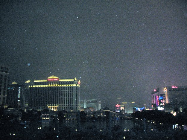 Caesars Las Vegas in the snow