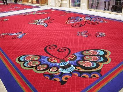Encore Las Vegas butterfly carpet