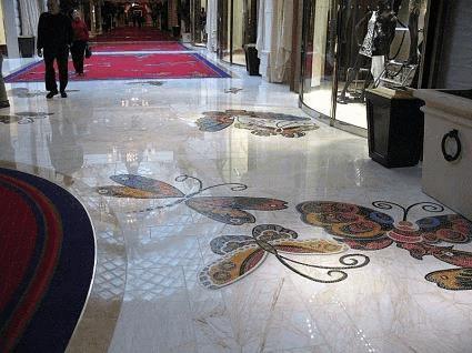 Encore Las Vegas butterfly mosaic tile