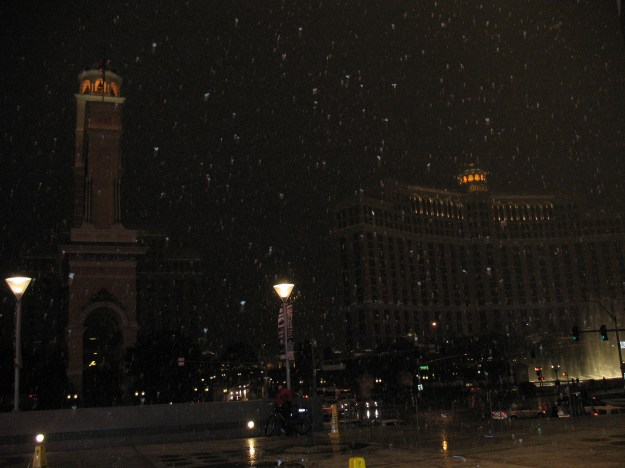 Snow on the Las Vegas Strip