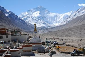 03 Mount Everest North Face and Rongbuk Monastery Morning