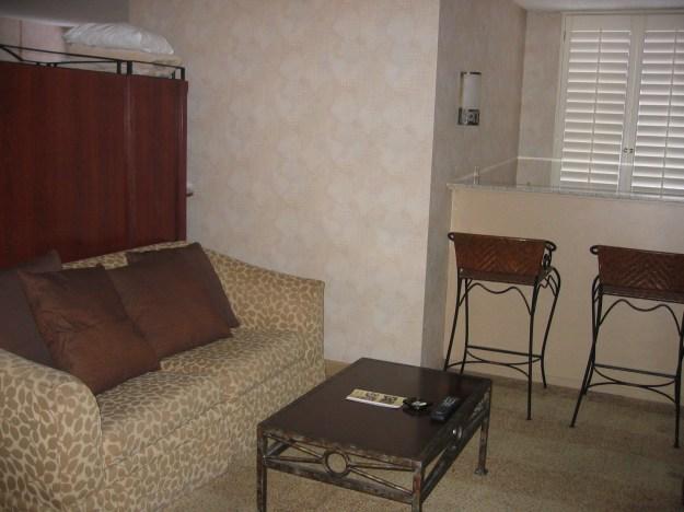 California hotel Las Vegas suite living room