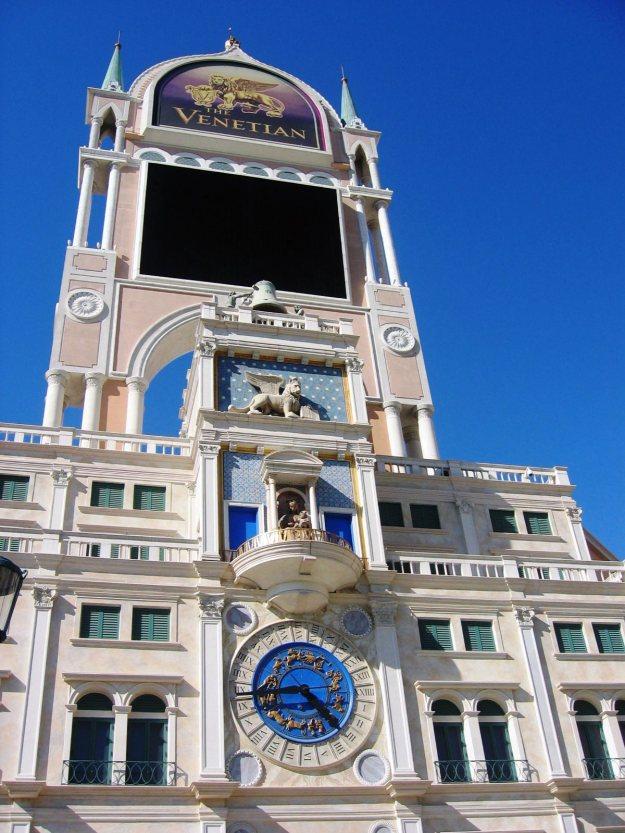 Venetian Clock Tower Las Vegas