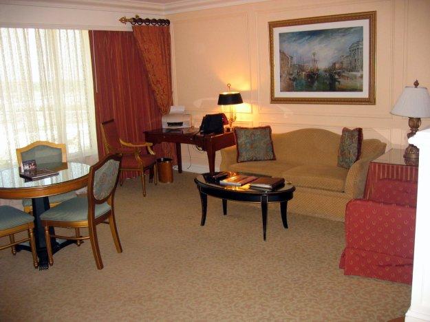 Venetian Rialto Suite Living Room Las Vegas