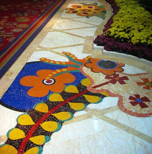 Wynn Las Vegas mosaic tiles